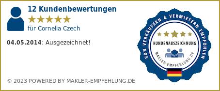 Qualitätssiegel makler-empfehlung.de für Cornelia Czech