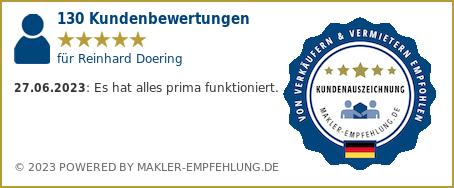 Qualit�tssiegel makler-empfehlung.de f�r Reinhard Doering