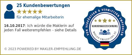 Qualitätssiegel makler-empfehlung.de für Gaby Mayer