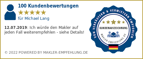 Qualitätssiegel makler-empfehlung.de für Michael Lang