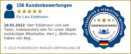 Qualitätssiegel makler-empfehlung.de für Lars Edelmann