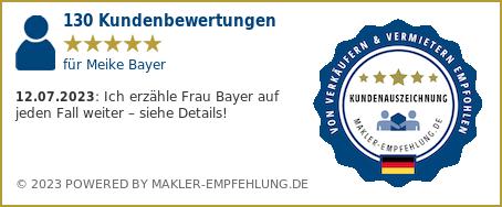 Qualitätssiegel makler-empfehlung.de für Meike Bayer