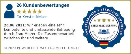 Qualitätssiegel makler-empfehlung.de für Kerstin Melzer