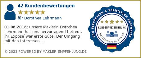 Qualitätssiegel makler-empfehlung.de für Dorothea Lehrmann
