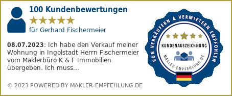 Qualitätssiegelmakler-empfehlung.de für Gerhard Fischermeier