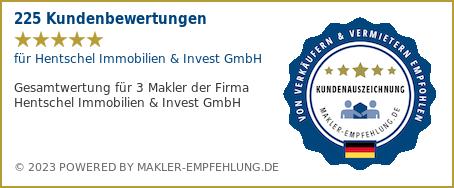 Qualitätssiegel makler-empfehlung.de für hsmanagement GmbH Ihr Immobilienmakler Berlin