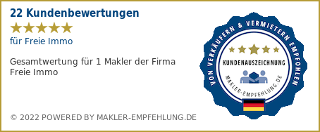 Qualitätssiegel makler-empfehlung.de für Freie Immo