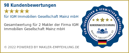 Qualitätssiegel makler-empfehlung.de für IGM