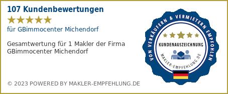 Qualitätssiegel makler-empfehlung.de für Günther Berthold