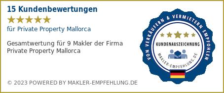 Qualitätssiegel makler-empfehlung.de für Private Property Mallorca