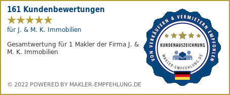 Qualitätssiegel makler-empfehlung.de für J. & M. K. Immobilien