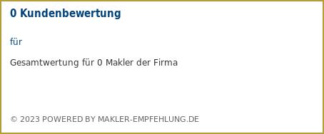 Qualitätssiegel makler-empfehlung.de für M & S Immobilien GmbH