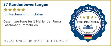 Qualitätssiegel makler-empfehlung.de für Poschmann Immobilien